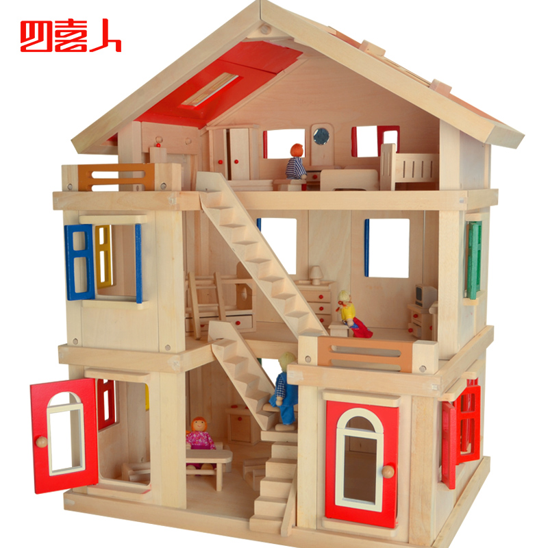 Big wooden house clipart.
