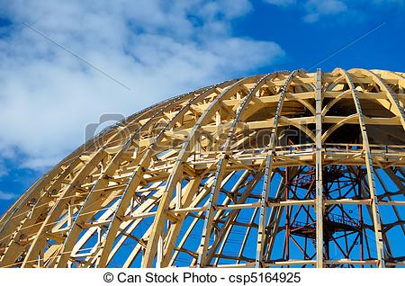 Stock Images of The wooden frame of the dome..