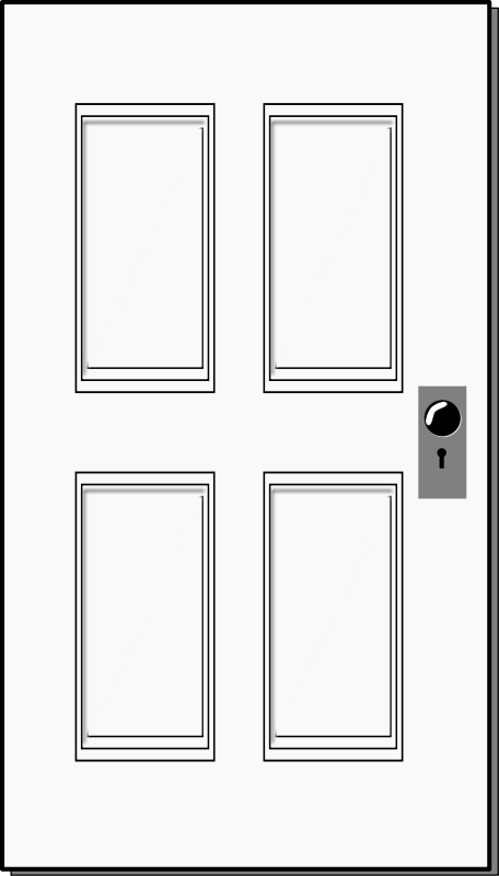 White Wooden Door Clipart.