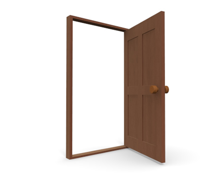 Wooden Door Clipart.