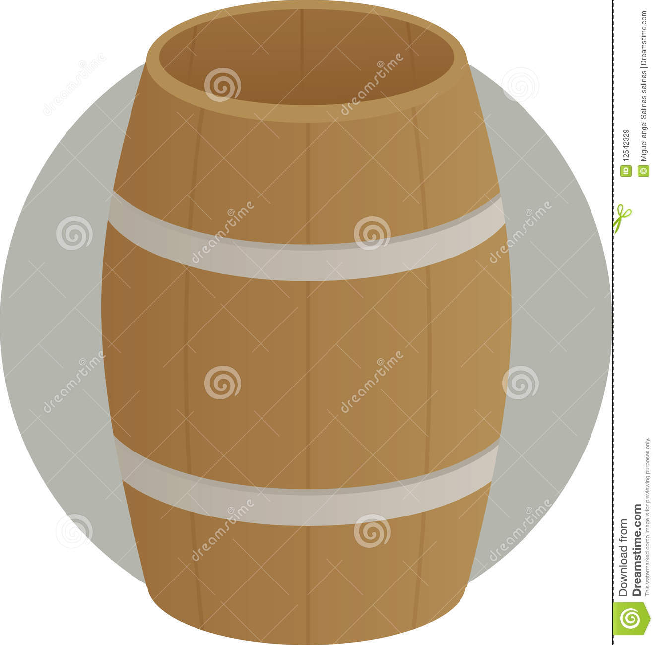 Wooden Barrel Drum Container Royalty Free Stock Images.
