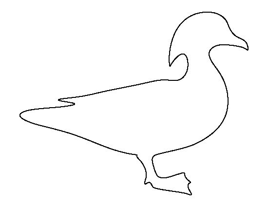 Wood duck pattern. Use the printable outline for crafts, creating.
