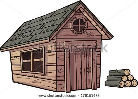 Cartoon Log Cabin Stock Photos, Royalty.