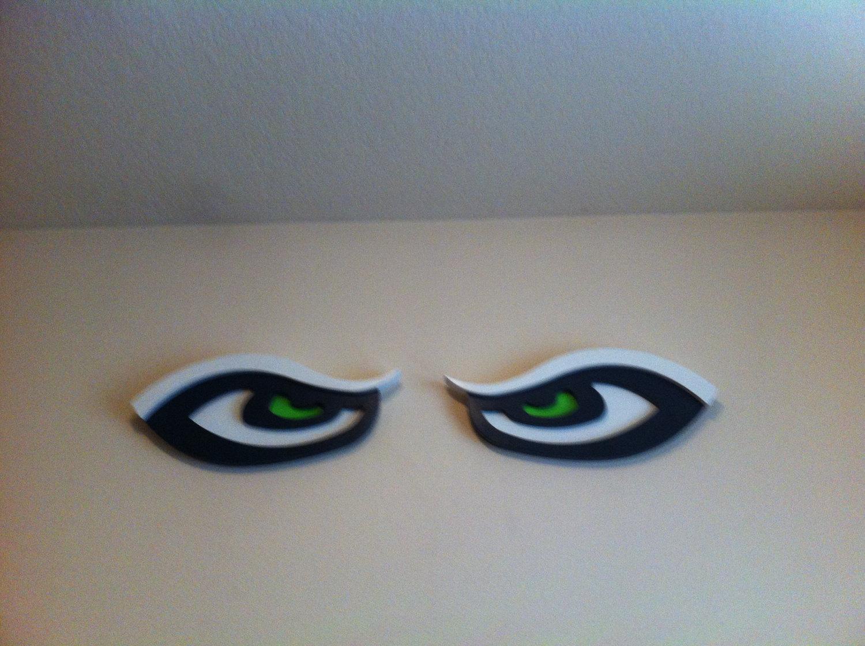 "1 pair 24"" long ea seattle seahawk eyes Seahawk wooden sign."