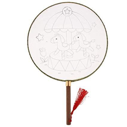 Amazon.com: Agordo Ancient Court Mandarin Fan Wood Handle.