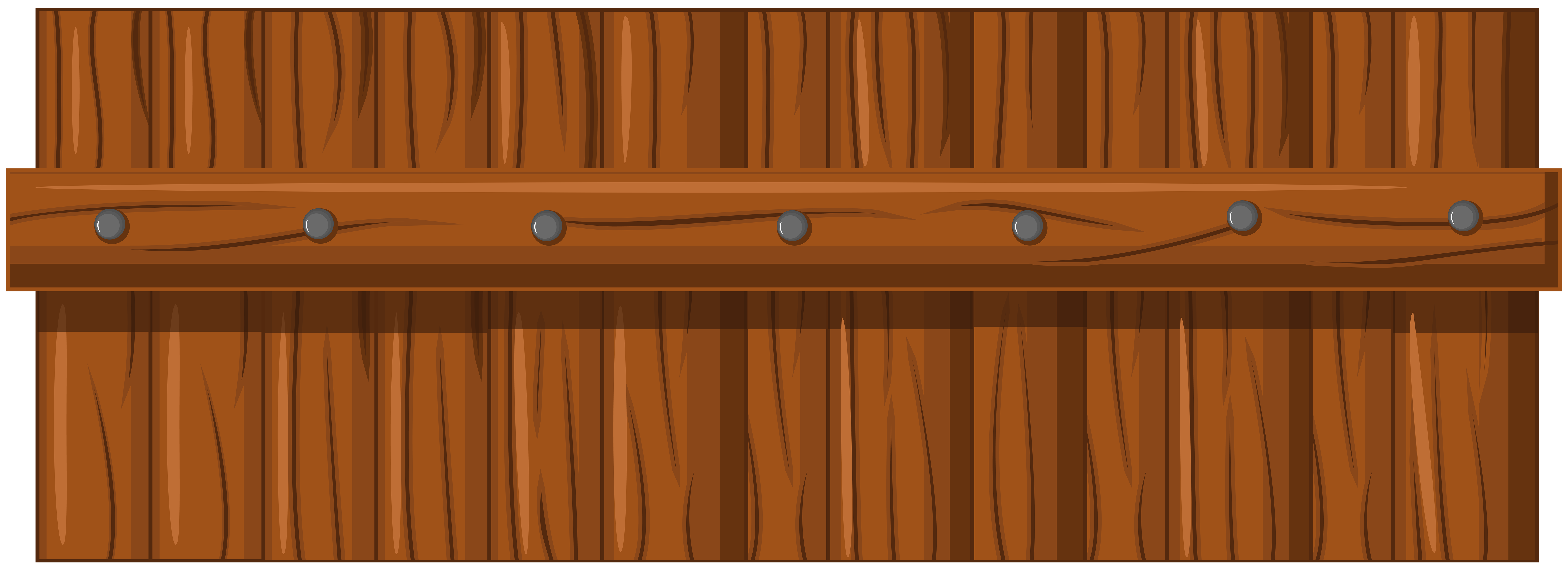 Brown Wooden Fence Transparent PNG Clip Art.