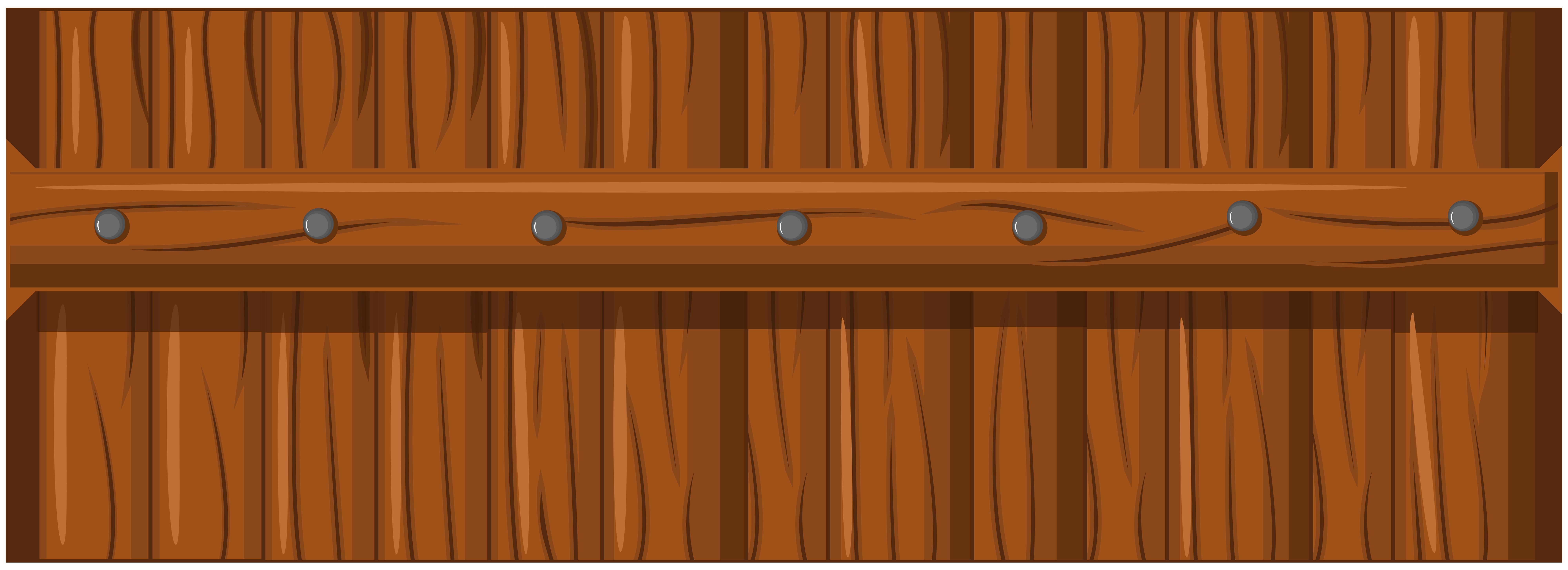Brown Wooden Fence Transparent PNG Clip Art.