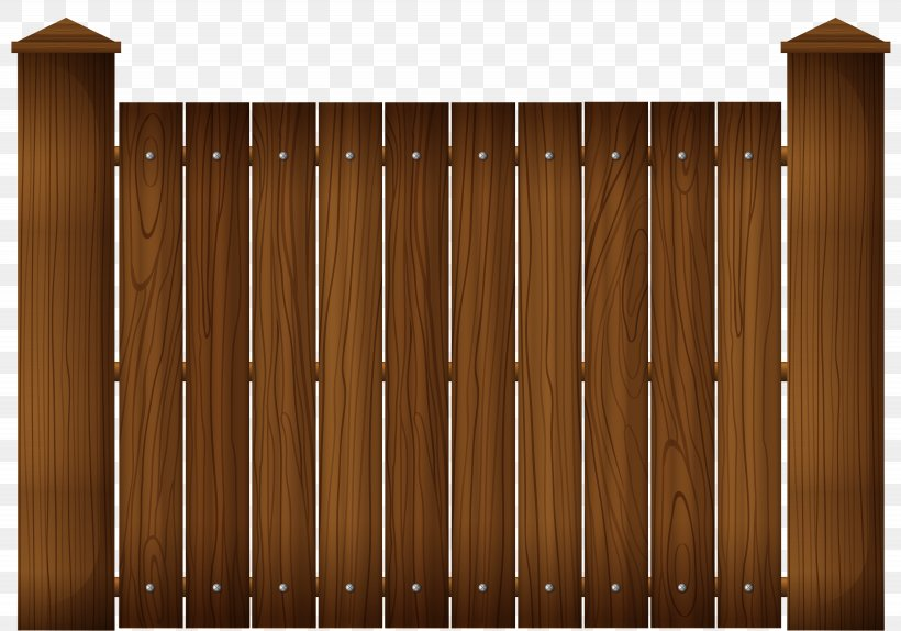 Picket Fence Wood Stain Clip Art, PNG, 6150x4306px, Fence.