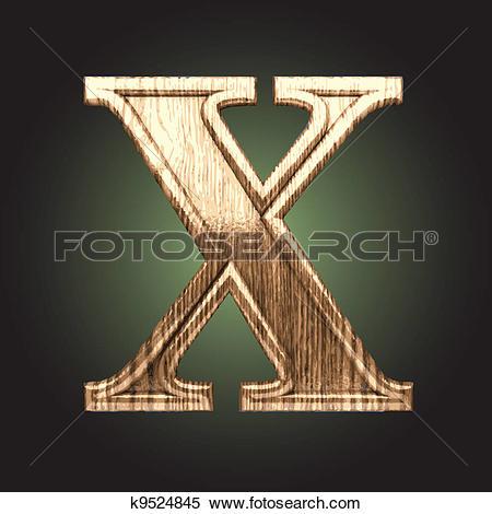 Clipart of Vector wooden figure k9524845.