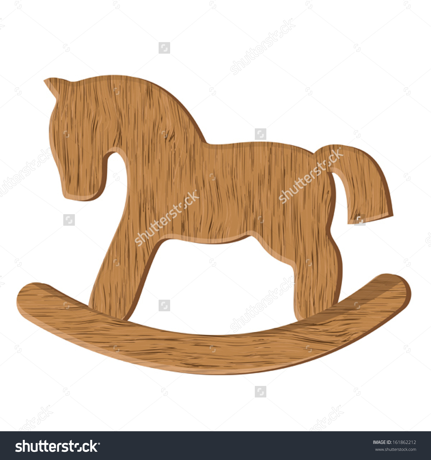 Vector Wooden Horse Toy Isolated On Stock Vector 161862212.