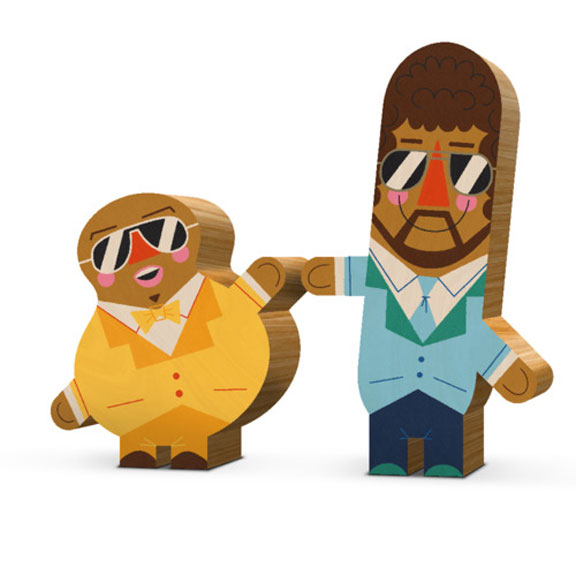 Andrew Kolb Immortalizes Pop Culture Duos With Wooden Figures [Art].