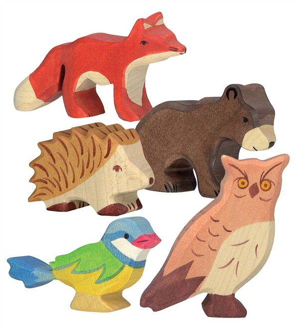 Woodland Animal Wooden Play Figurine in Wooden Toys.