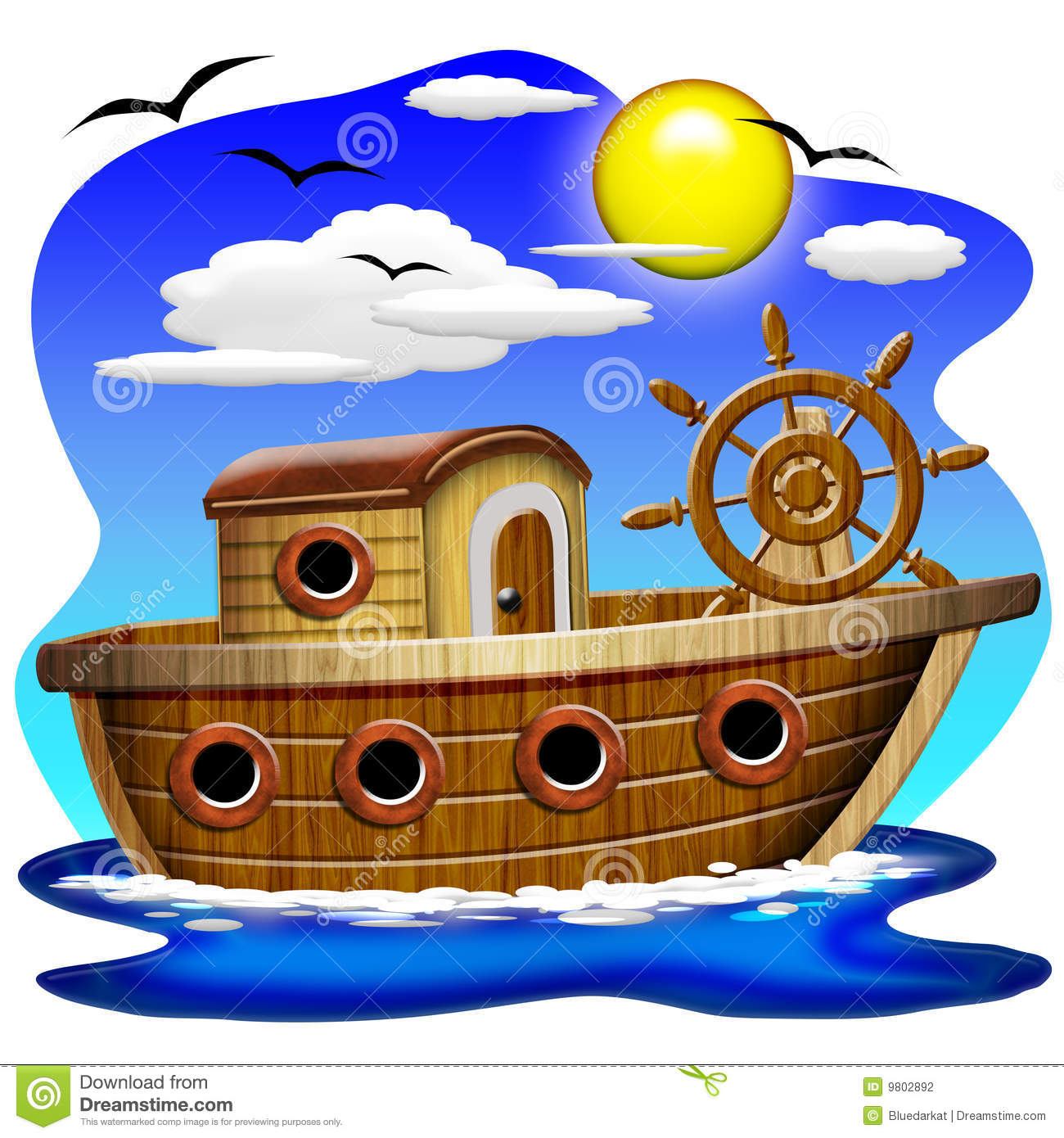 Wood Boat Clipart Stock Photos, Images, & Pictures.