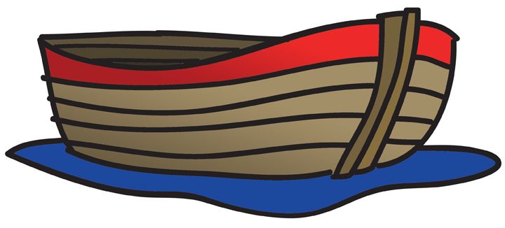 Small fishing boat clipart.