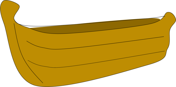 Small Wooden Boat Clipart.