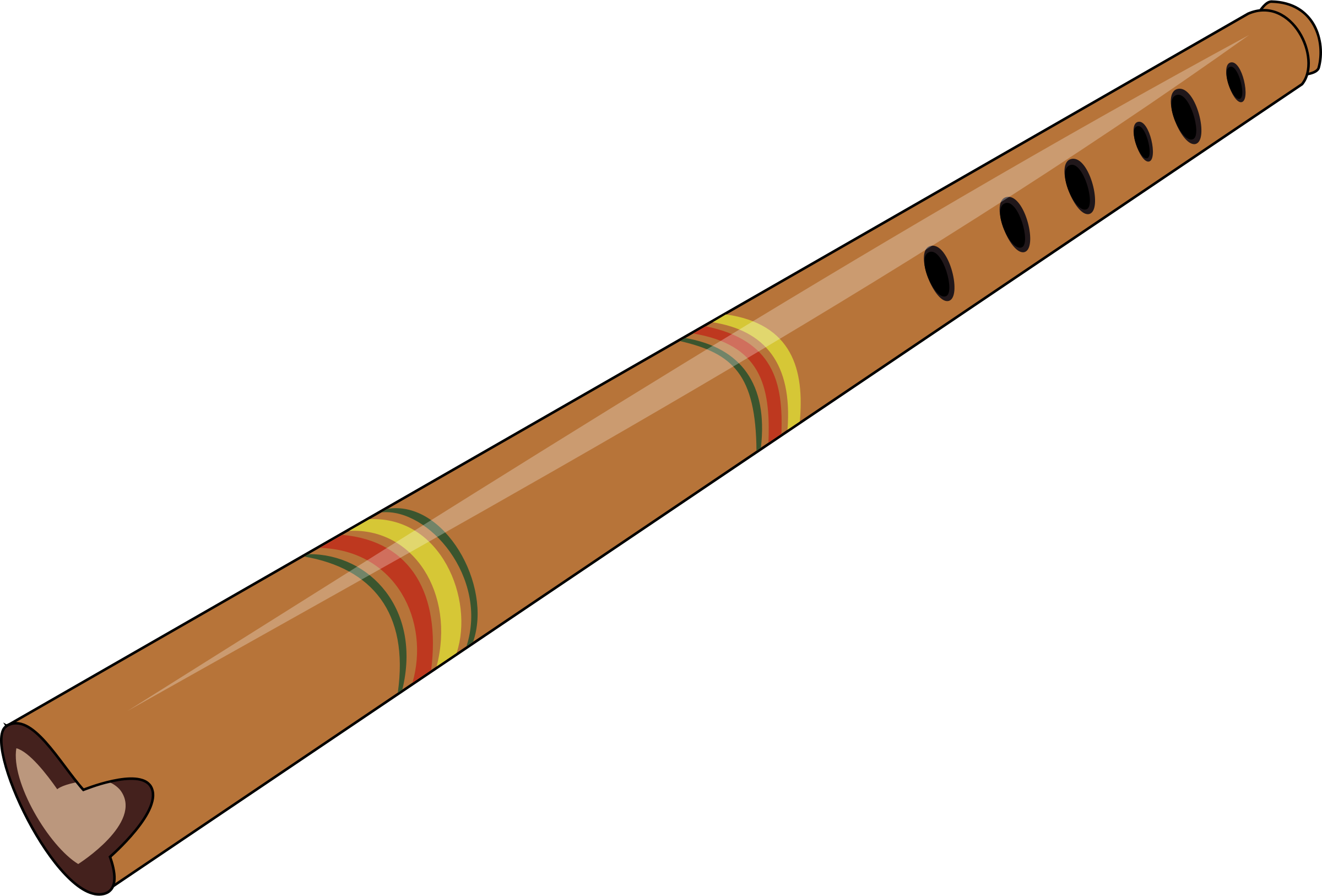 Wooden flute clipart - Clipground