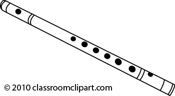 Flute Black And White Clipart.