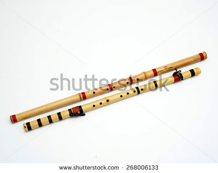 Bamboo Flute Stock Photos, Royalty.
