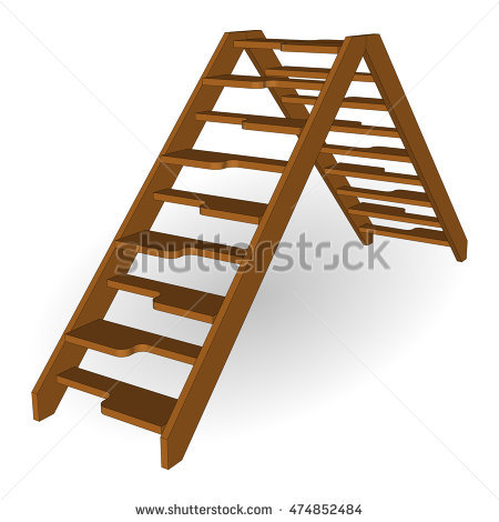 Wooden Stairs Stock Photos, Royalty.