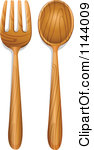 Cartoon Of A Spoon And Fork.