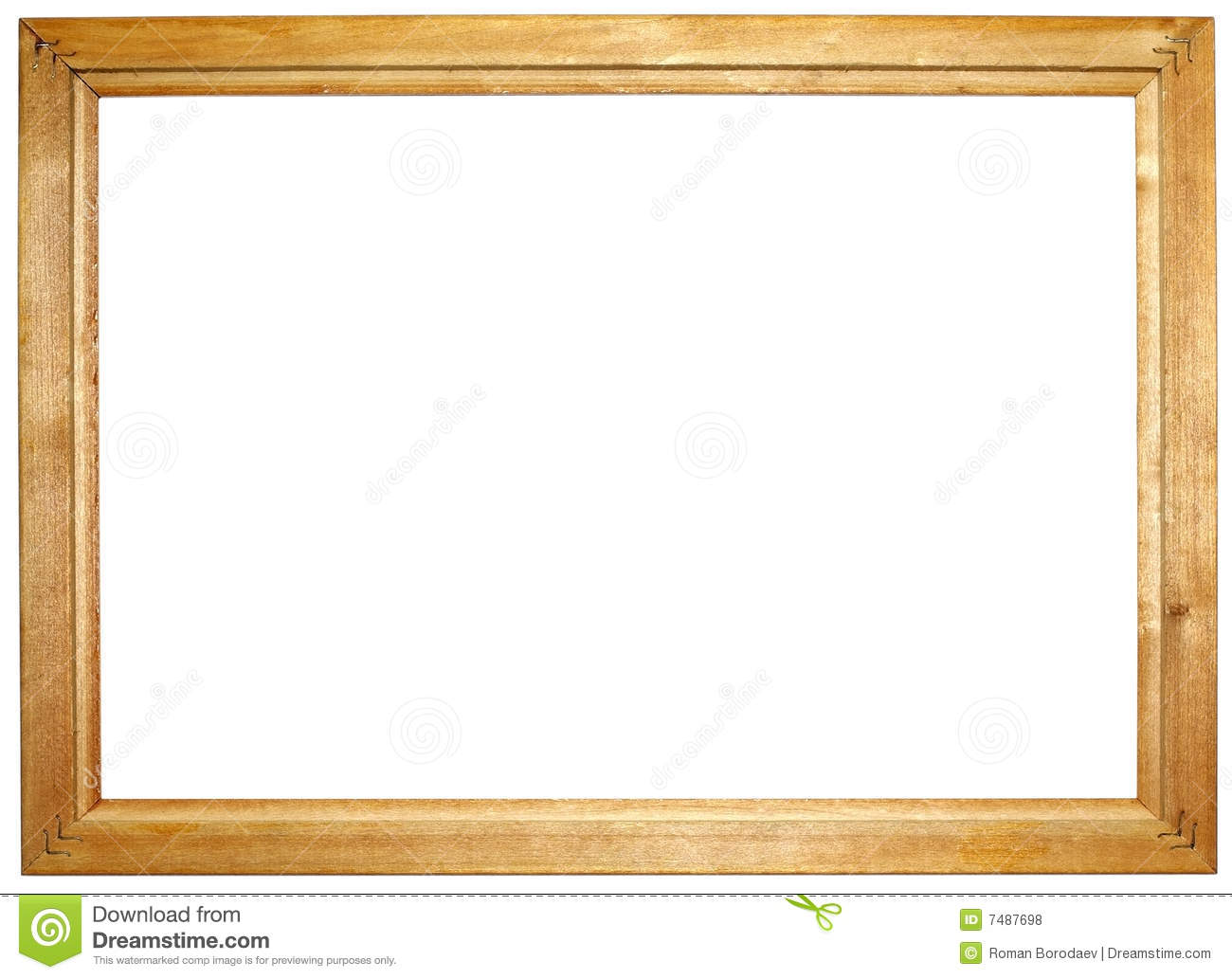 wooden picture frame clipart - Wood Frame