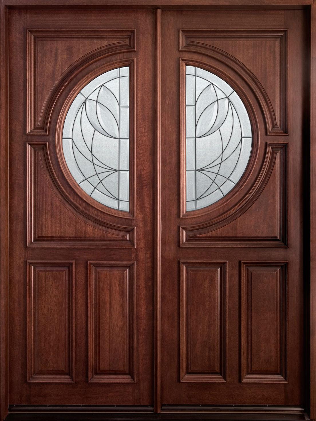 Wooden Double Door Clipart.