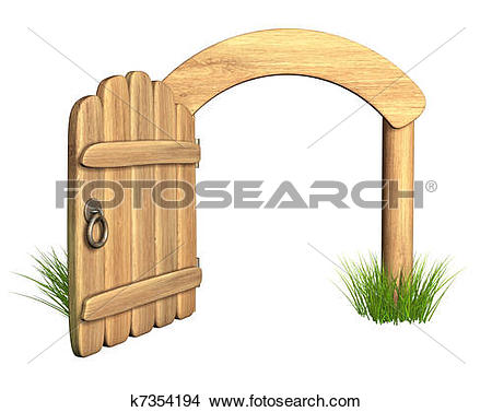 Clipart of Old gate k11341480.