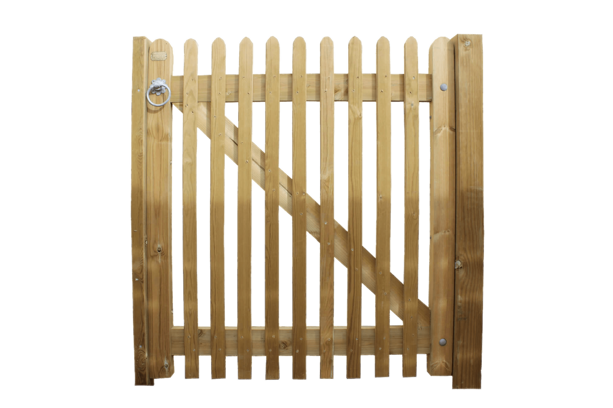 Traditional Wooden Garden Gate transparent PNG.