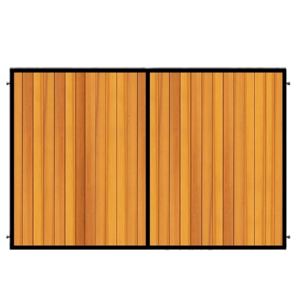 Metal Framed Wooden Gate transparent PNG.