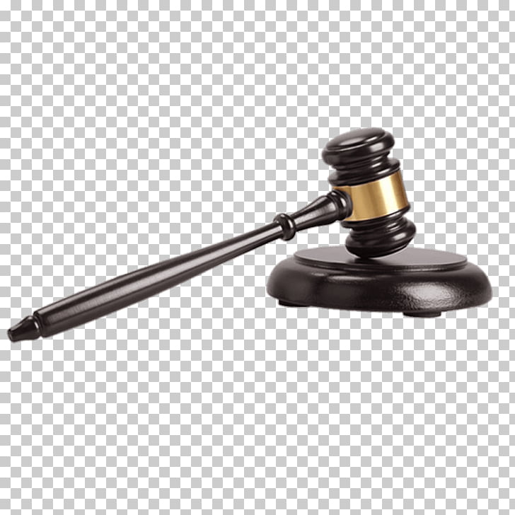 Dark Wooden Judges Hammer, black gavel art PNG clipart.