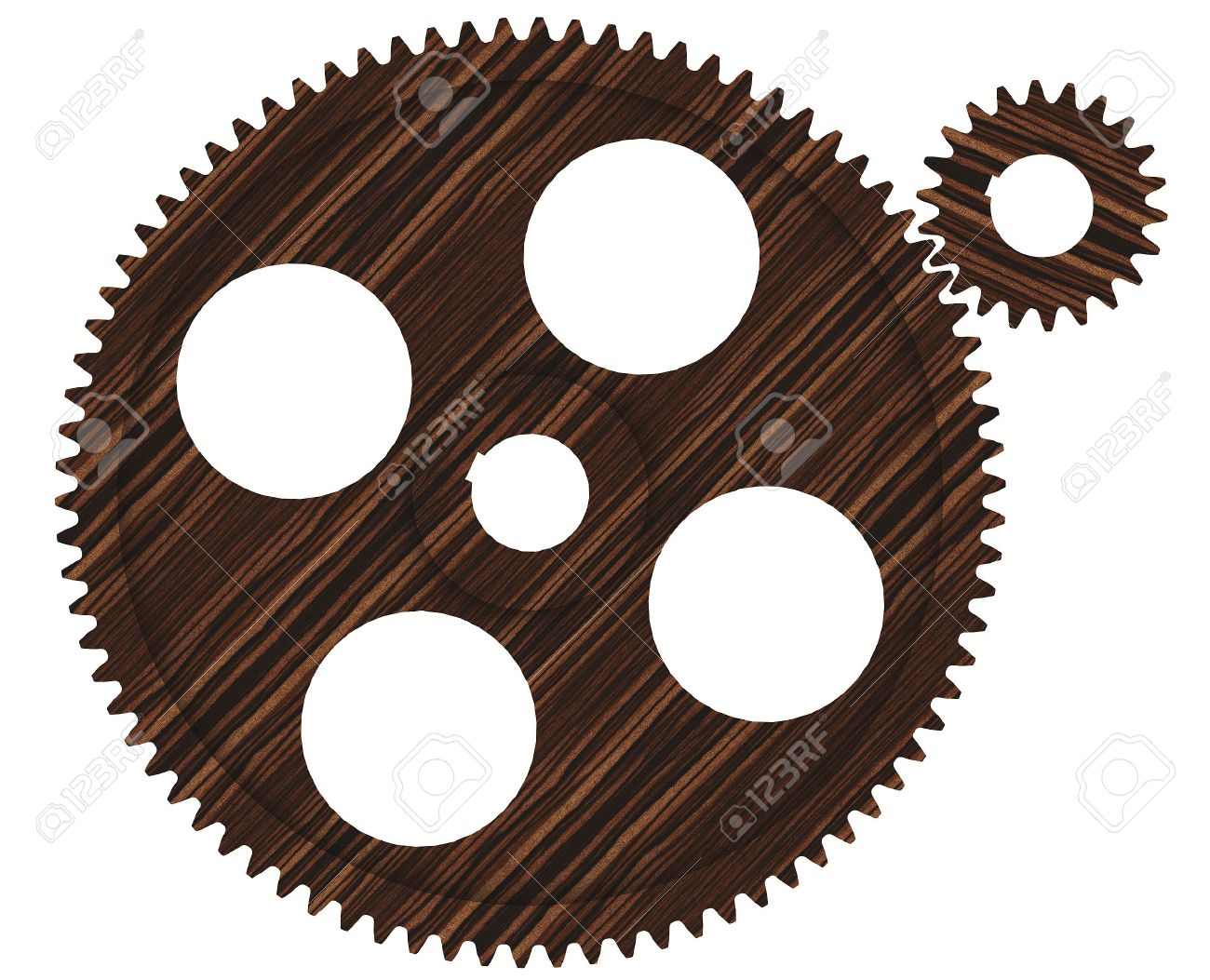 Mechanical Wooden Gear Stock Photo, Picture And Royalty Free Image.