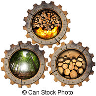 Lumber industry wooden gears Clipart and Stock Illustrations. 96.