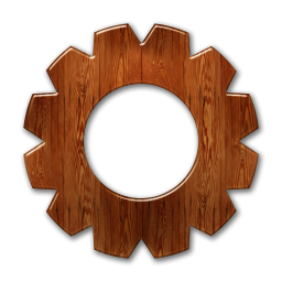 Glossy Waxed Wood Icons Business » Icons Etc.