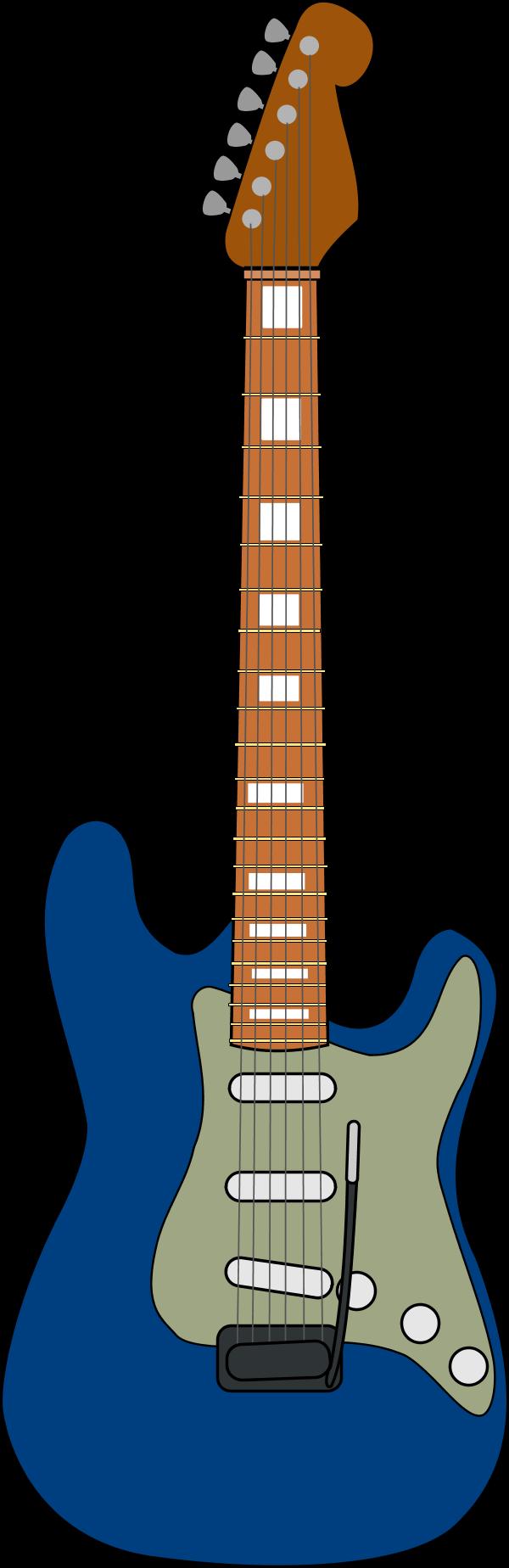Wooden guitar vector clip art.
