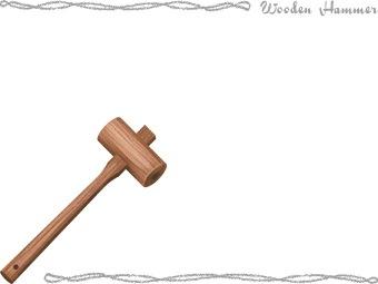 Wooden Hammer, Wooden Mallet clipart / Free clip art.