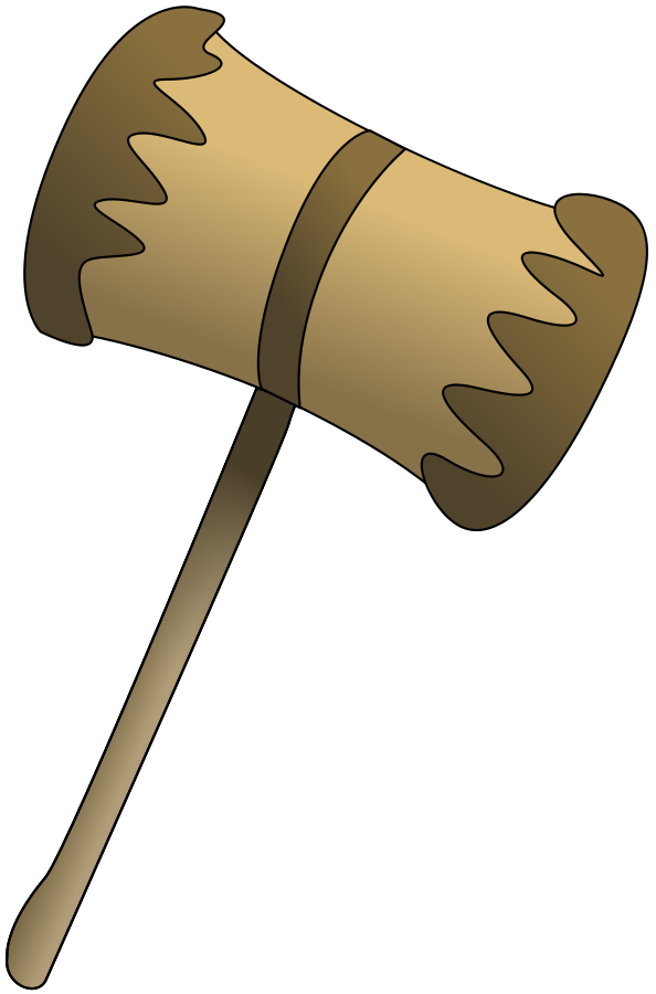 Wooden Mallet Clipart, vector clip art online, royalty free design.