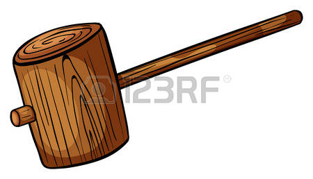 2,441 Wooden Mallet Stock Illustrations, Cliparts And Royalty Free.