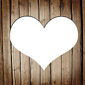 Wooden Heart Clipart.