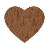 Wooden heart clipart.