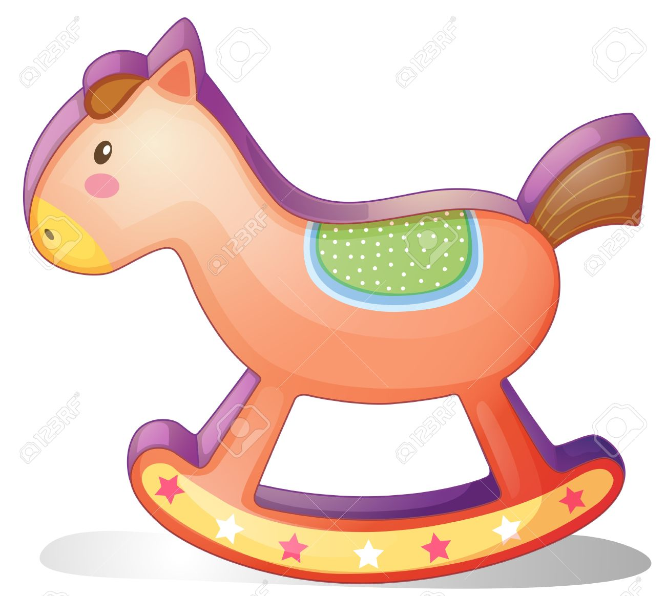 Illustration Of A Wooden Horse Toy On A White Background Royalty.