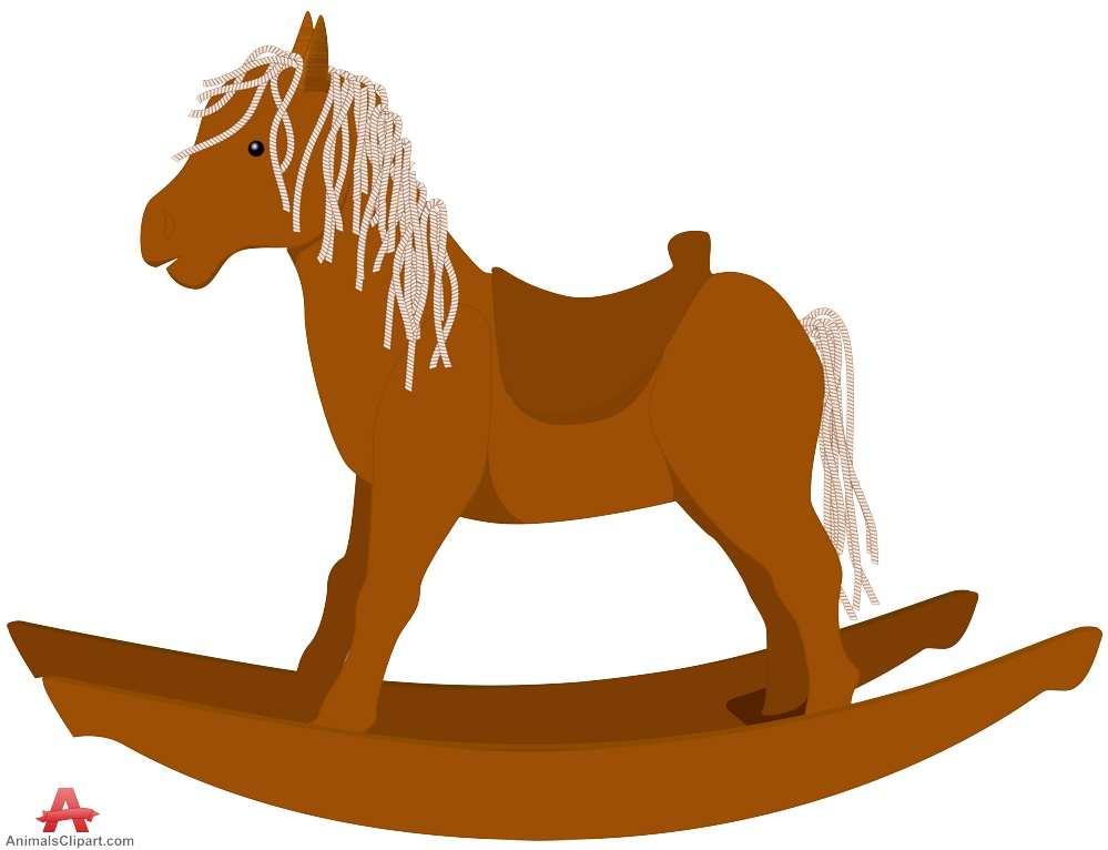 Wooden Rocking Horse Clipart.