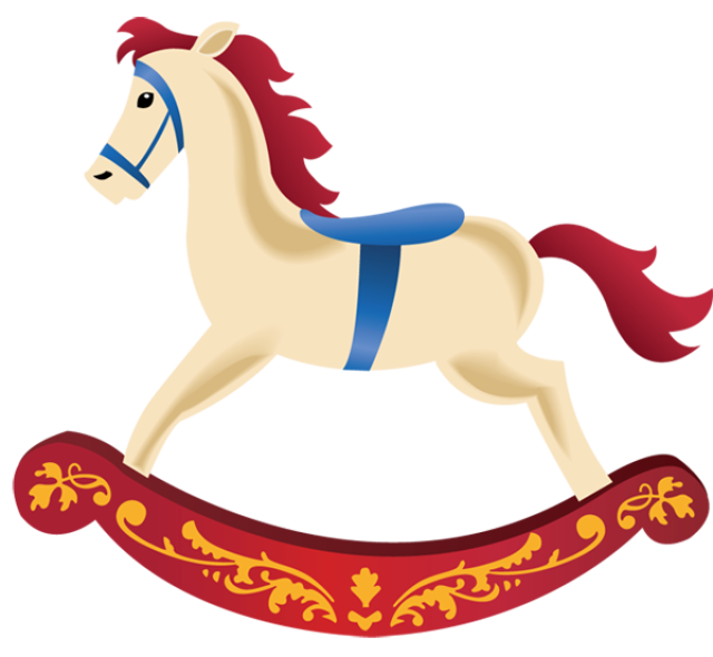 Horse toy clipart.