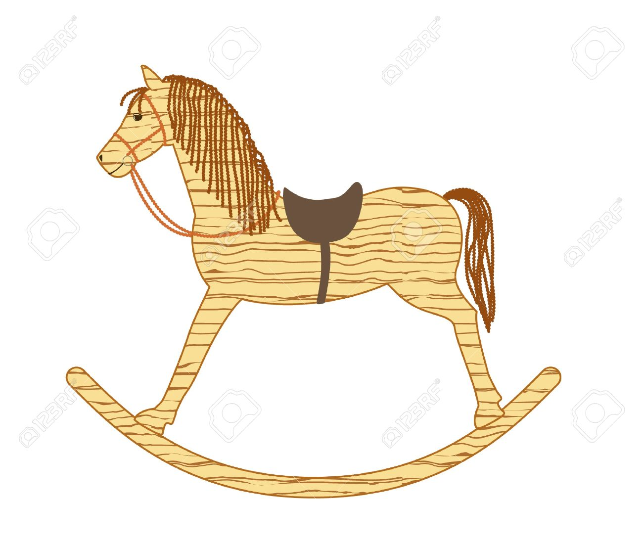 Wooden Rocking Horse Royalty Free Cliparts, Vectors, And Stock.