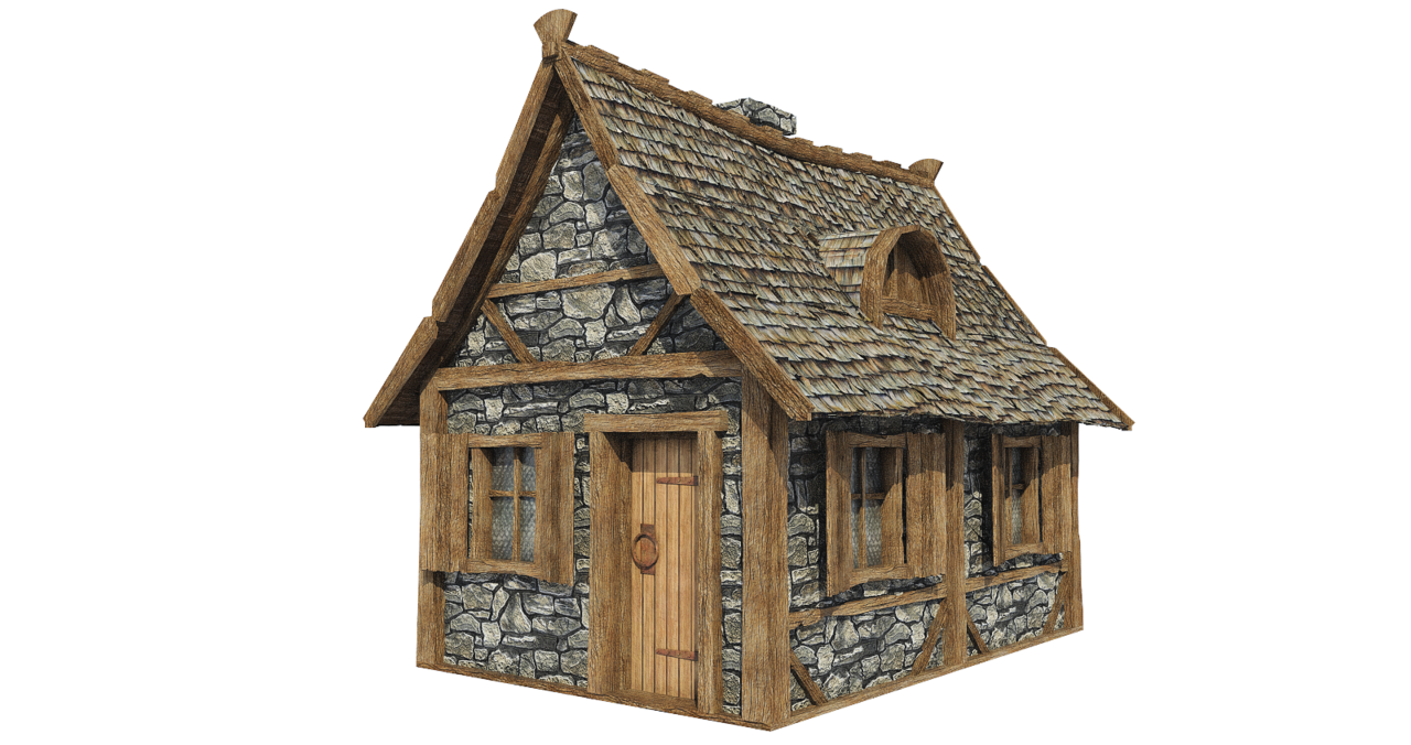 Download Wooden House PNG Picture.