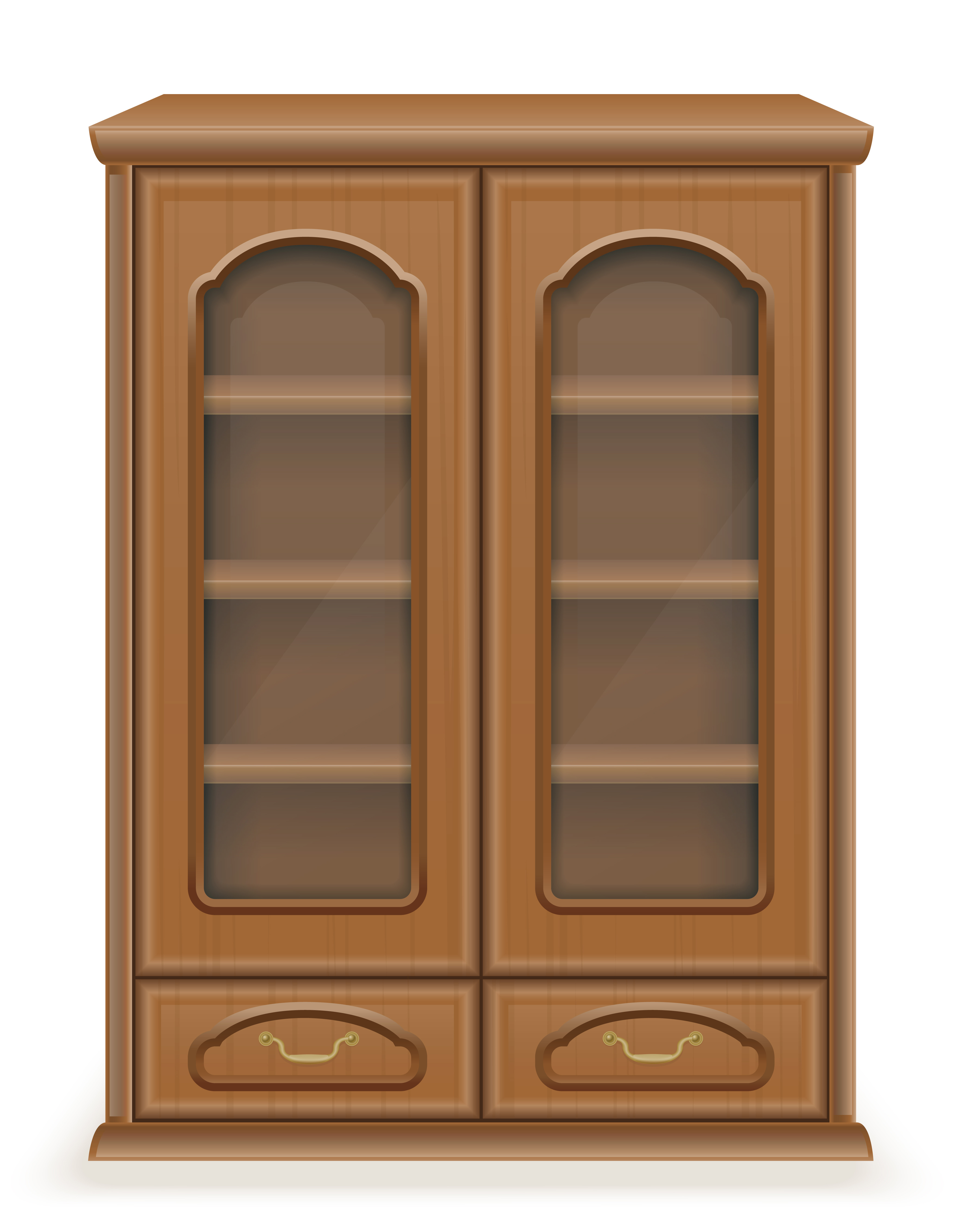 cupboard furniture made of wood vector illustration.