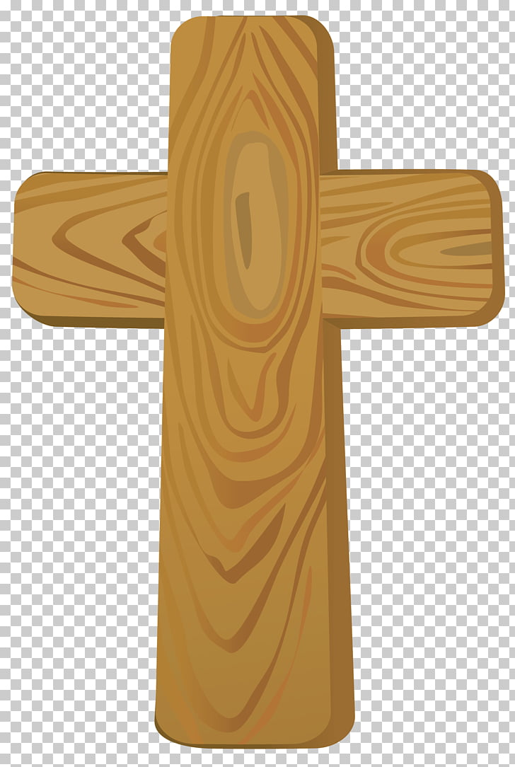 Cross , Wooden Cross , brown cross illustration PNG clipart.