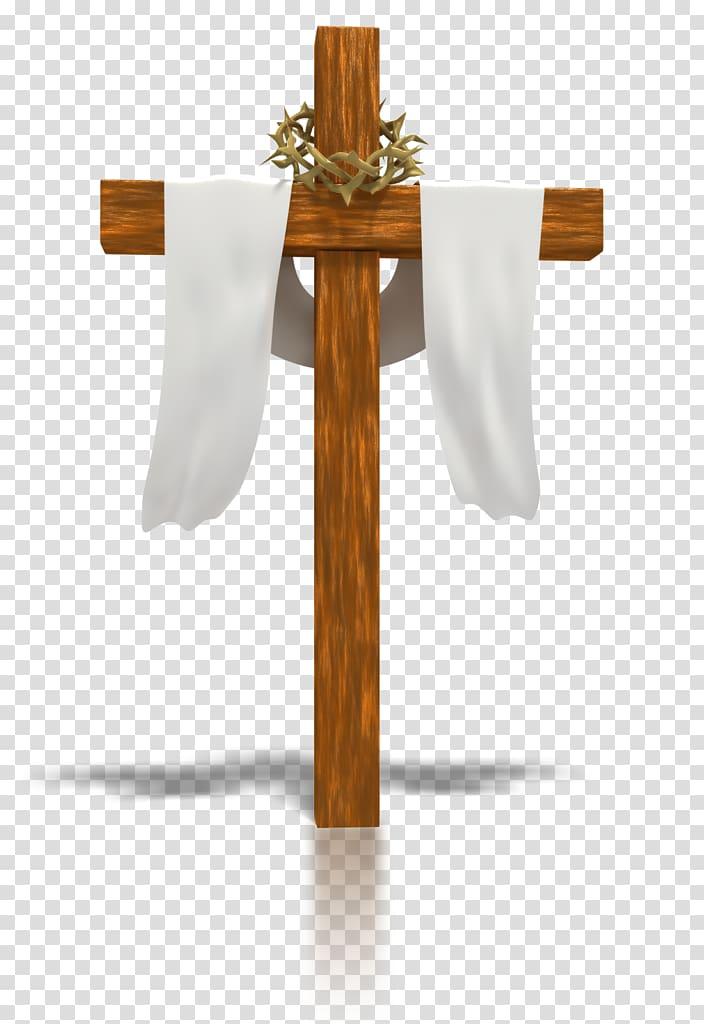 Brown wooden cross, Calvary Crucifix Christian cross.