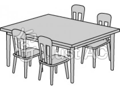 Round Table Clipart Black And White.