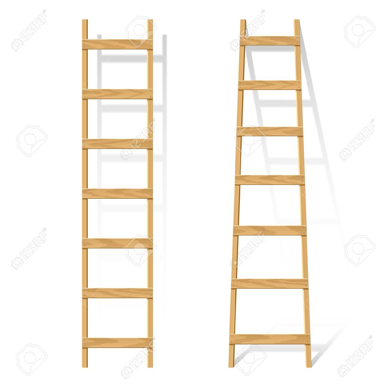 Wooden Ladder Royalty Free Cliparts, Vectors, And Stock.