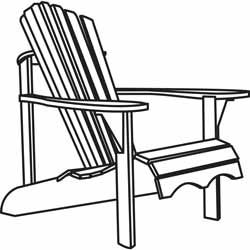 The Adirondack chair is a simple rustic wooden chair for.